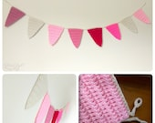 ANY COLOR(S) Crocheted Bunting Banner