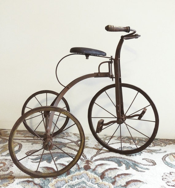 Makers Of Antique Tricycles : Reserved for lfuhrman antique tricycle old by