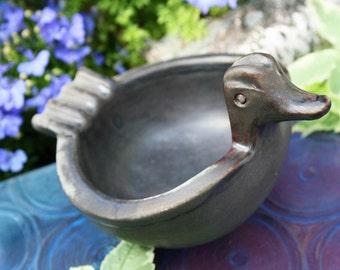Rosenthal Netter Pottery Modernist 1950s 50s Fifties Mid Century Duck Ashtray