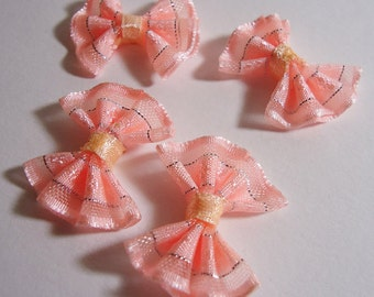 Four Organza Ribbon. Light Pink
