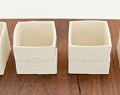 Porcelain Box Tea Light Holders- Set of 2