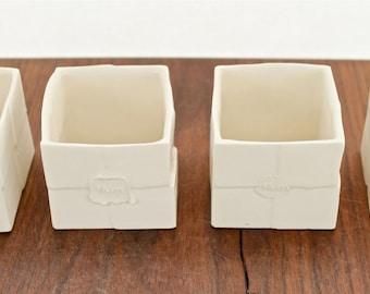 Porcelain Box Tea Light Holders- Set of 2