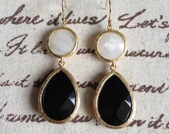 Medium Double Drop Bridesmaids Earrings