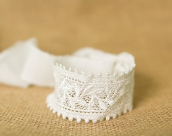 Lace tie back Headband - Newborn Photo Prop, photography prop