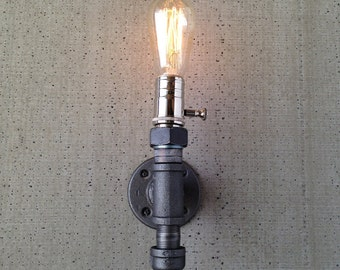 Edison Wall Lamp - Industrial Sconce - Steampunk Lighting - Dimmable Lamp