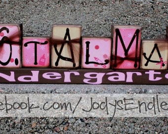 Teacher Name Blocks - Name Blocks - Teacher Gift - Teacher Desk