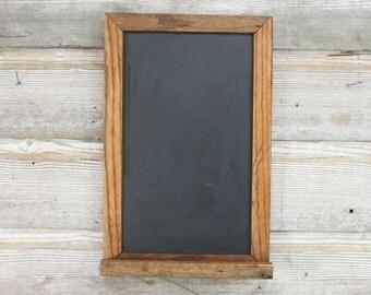 Vintage Slate Chalkboard -- Oak Framed Chalkboard