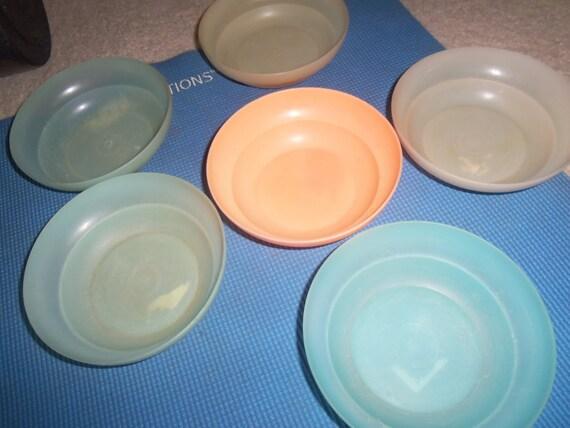 Lot assorted vintage tupperware bowls 6 wonderlier cereal pastel