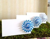 Origami Place Cards, Stripe Wedding Escort Cards - paper pinwheels - Favor sets of 20 any color