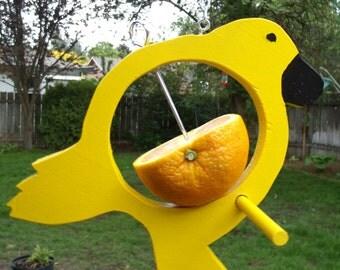 Canary Yellow Bird Fruit Feeder