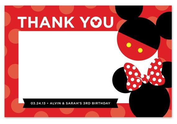Articoli simili a Disney Topolino & Minnie Mouse ringrazio ...