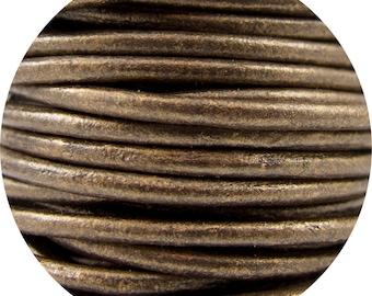 2mm Kansa Metallic Premium Genuine Leather Cord #52