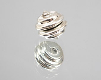 11mm Magnetic Closure Clasp Silver Plated # 45-6242