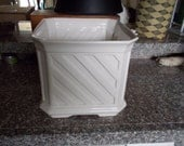 Flawless Vintage Chine de Blanc  Square Planter