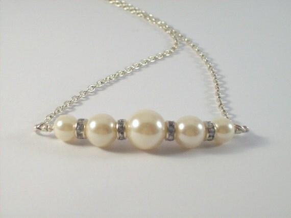 Wedding Jewelry, Bridal Jewelry, Bridal Necklace, Pearl Necklace, Bridal Jewelry Set, Bridesmaid Jewelry, Wedding Necklace, Ivory Pearl