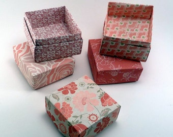 Set of 100 - Wedding Favor Box, Party Favor Box, Pink Box, Pink Wedding, Wedding Gift Box, Origami  Box, Favor Box