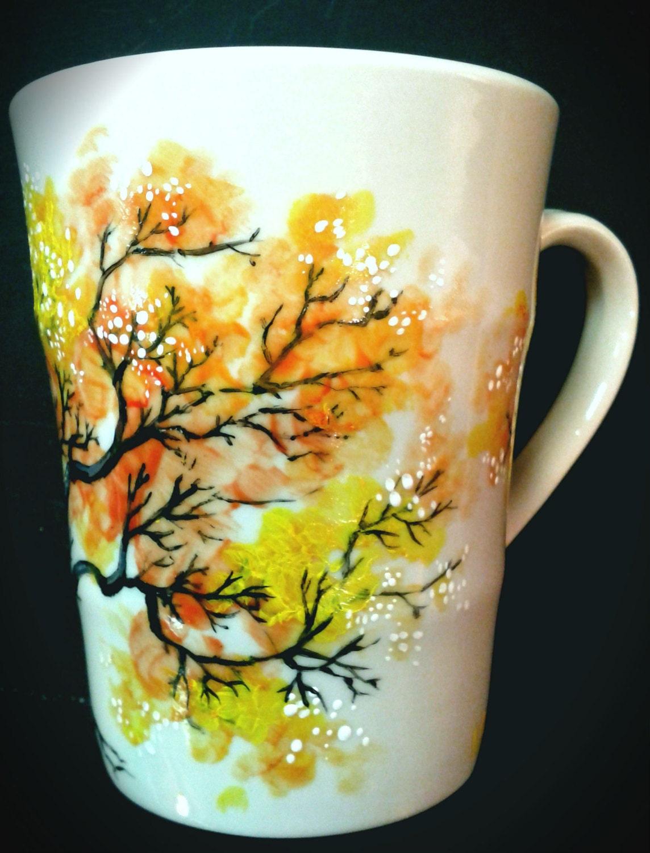 Inspired hand painted mug for Ceramic based paint