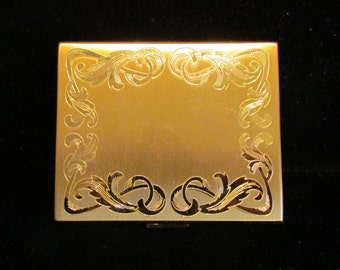Vintage Compact Powder Compact Mirror Compact Elgin American Compact 1950s Unused Near Mint Condition