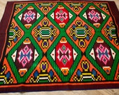 5.45ftX4.42ft,Tribal Accent Rug,Vintage Hand Woven Rug ,Sofa Throw Cover, Pure Organic Wool Rug , Boho Gypsy Chic,Woven Sofa Cover