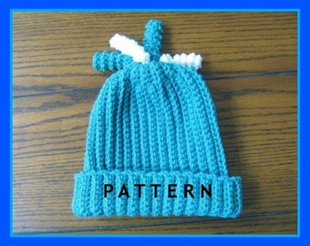 Crochet Pattern Curly Top Child's Hat - Digital Download