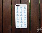 Cross Stitch Case iPhone 5 Anchor, Summer Cross Stitch, Cross Stitch Case, Stitch, Sailor Cross Stitch, iPhone 5 Case, DIY