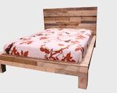 Bed reclaimed wood  headboard