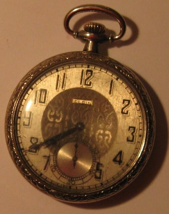 antique elgin pocket american made in 1923 in