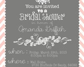Bridal Shower Invitation 5x7 multiple design options