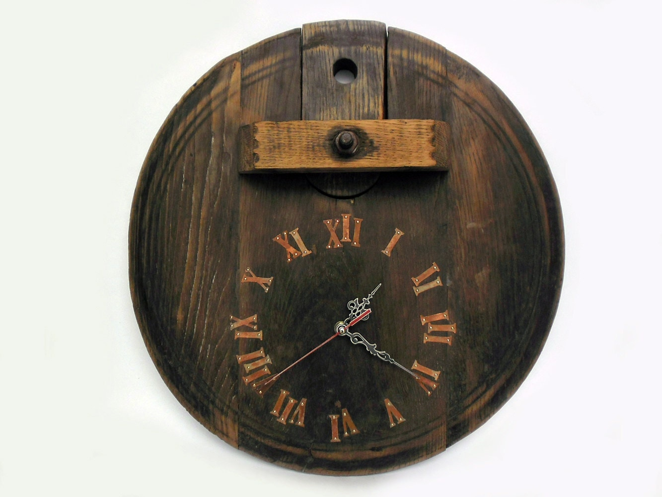 17 39 39 Large Rustic Wall Clock Unique Big By Thirdcloudtotheleft