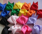 """You Pick: Set of Four 4-5"""" Medium Hair Bows on Alligator Clips with Glitter Accents"""