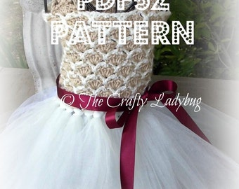 Crochet and tulle tutu dress III pattern - PDF52 digital download