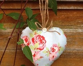 Decorative Floral Hanging Loveheart.