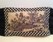 English Toile Cotton and Silk Pillow Cover - Silk of the Trade