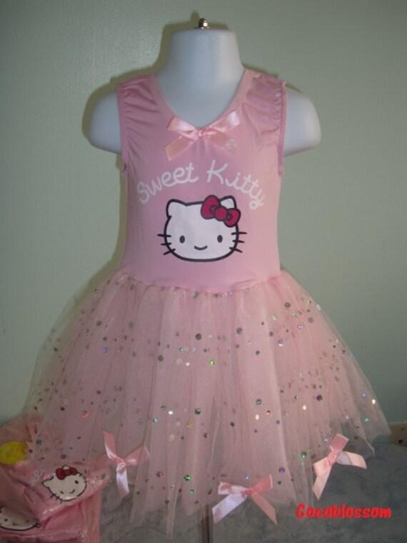 Items similar to hello kitty tutu pink ballet dance - Ballerine hello kitty ...