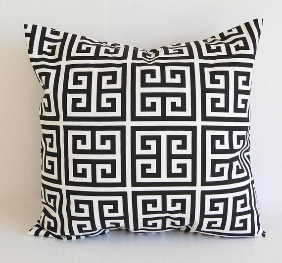 Throw Pillow Case 20 X 20 : Black throw pillow cover One 20 x 20 cushion by ThePillowPeople