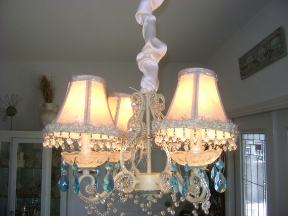 chandelier cord cover lighting romantic french by divinedecorating. Black Bedroom Furniture Sets. Home Design Ideas
