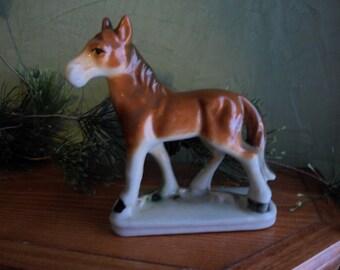 Porcelain Mustang Horse Figurine