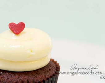 Food photography, Cupcakes photo, Red Velvet, Love, Heart, Valentine's Day, Bakery, Cafe Decor, Kitchen Wall Art, Christmas