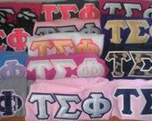 Patterned Greek Letter TShirt