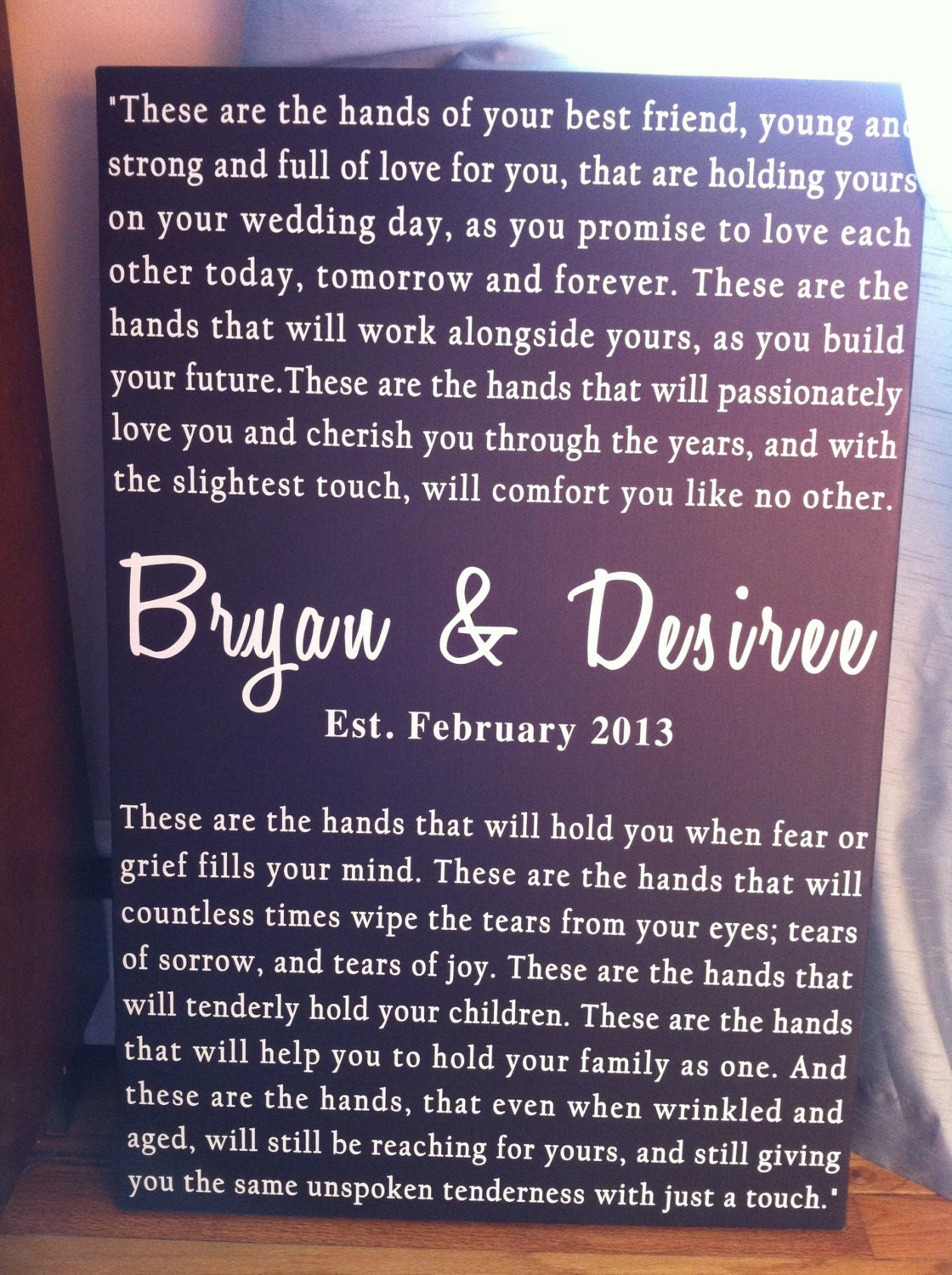 Personalized Wedding Vows For The Bride And Groom Word Art