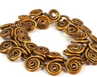 Brass Swirl Link Bracelet