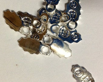 10 Silver Plated Glue-on Bails, Bulk Buy