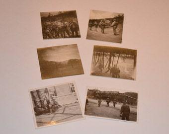 40's Photos, Black and White Photography, Korean War Pictures, Vintage Photography, Set of 6 Korean War Vintage Black and White Photos