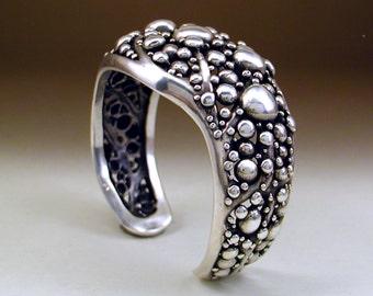 Sterling Silver Seafoam Cuff Bracelet