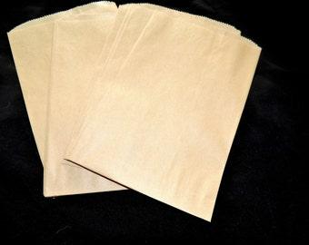 50 6x9 Kraft  Paper Merchandise Bags, Party Favor Gift Bags, Retail Bags,Cute Gift Bags, Wedding Bags, Bridal Paper Bags,