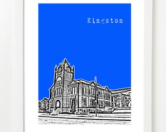 Kingston, Ontario City Poster - Kingston Ontario Skyline Print