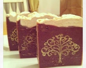 Cold Process Silk Soap - Orange Chocolate cake with natural Loofah, Cruelty FREE