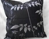 Pillow cover 18 x 18 Pillow Cover Metallic silver and black pillow cover-Decorative Pillow Cover, Throw Pillow, Toss Pillow