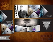 5x5 Tri-fold High School Senior Graduation Announcement - Brooklyn Senior