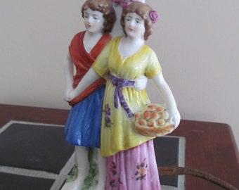 sitzendorf  porcelain figural  lamp